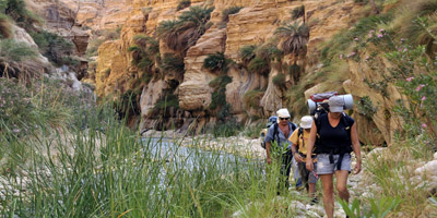 Trekking in the Dead Sea canyons